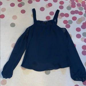 Women's cold shoulder blouse
